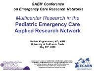 ECRN Multicenter Research in the Pediatric Emergency Care ...