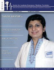 March-April 2012 - The Society for Academic Emergency Medicine