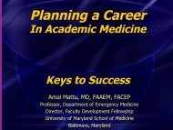 Planning a Career - The Society for Academic Emergency Medicine