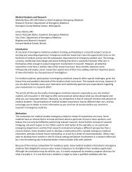 Medical Students and Research - The Society for Academic ...