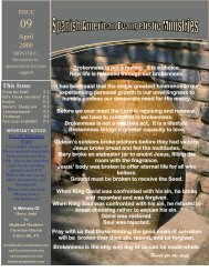 April 2009 This Issue - SAE Ministries