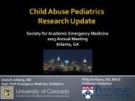 download handout - The Society for Academic Emergency Medicine