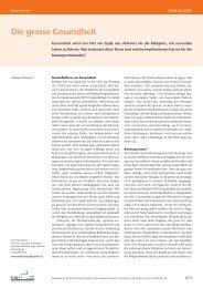 Die grosse Gesundheit - Schweizerische Ärztezeitung