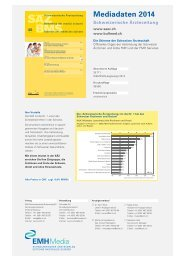 Mediadaten 2014 - Schweizerische Ärztezeitung