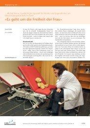 «Es geht um die Freiheit der Frau» - Schweizerische Ärztezeitung