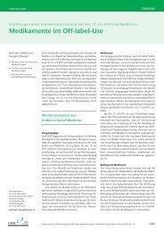 Medikamente im Off-label-Use - Schweizerische Ärztezeitung
