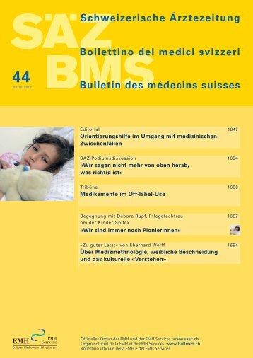 Schweizerische Ärztezeitung 44/2013