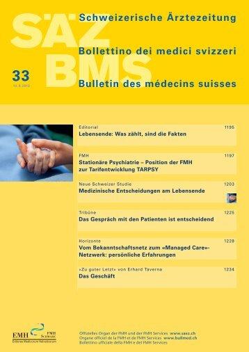 Schweizerische Ärztezeitung 33/2013