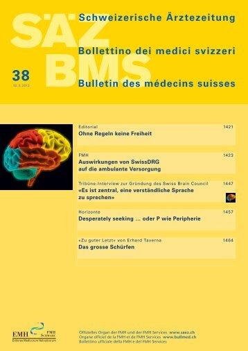 Schweizerische Ärztezeitung 38/2013