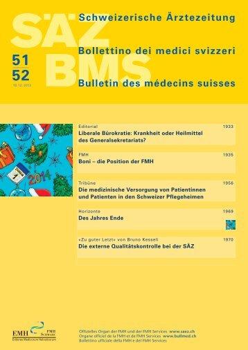 Schweizerische Ärztezeitung 51-52/2013