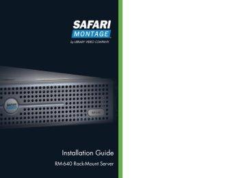 RM-640 Installation Guide - SAFARI Montage