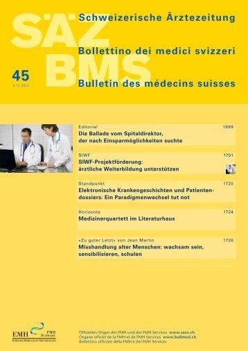 SIWF-Projektförderung - Schweizerische Ärztezeitung