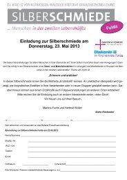 Erinnern und Erzählen - Evangelisches Bildungszentrum Bad Orb