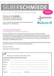 Einladung zur Silberschmiede am Dienstag, 18. September 2012, in ...