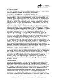 Mit Lust älter werden - Evangelisches Bildungszentrum Bad Orb