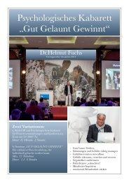 """Psychologisches Kabarett """"Gut Gelaunt Gewinnt"""""""