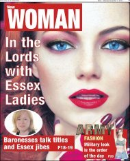 Baronesses talk titles and Essex jibes P18-19 - Newsquest Media ...