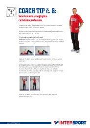 COACH TIP č. 6: - Intersport