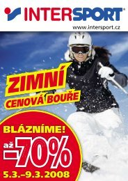 CENOVÁ BOUŘE - Intersport