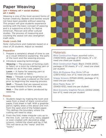 Paper Weaving - Dick Blick - Dick Blick Art Materials