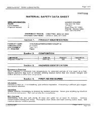 MSDS for #21937 - TERRY LUDWIG PASTEL - Dick Blick
