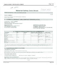 MSDS for #23823 - DEVCON DUCO CEMENT - Dick Blick