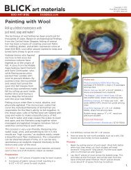 Painting with Wool - Dick Blick - Dick Blick Art Materials