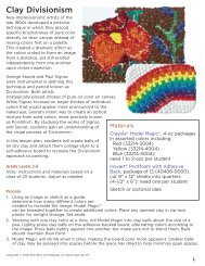Clay Divisionism - Dick Blick - Dick Blick Art Materials