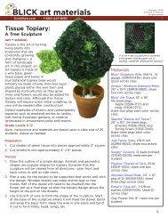 Tissue Topiary: A Tree Sculpture - Dick Blick - Dick Blick Art Materials