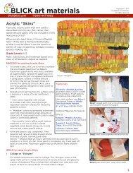 "Acrylic ""Skins"" - Dick Blick - Dick Blick Art Materials"
