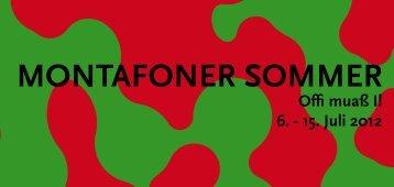 MONTAFONER SOMMER - Stand Montafon