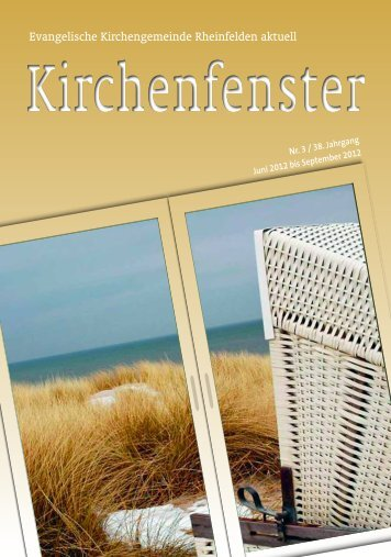 Juni / Juli / August / September 2012 - Evangelische ...
