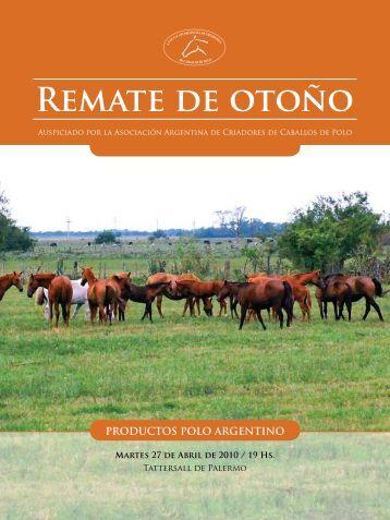 Remate de otoño - Asociación Argentina de Criadores de Caballos ...