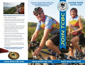 2010 TCBC Color Brochure in pdf format - Twin Cities Bicycling Club