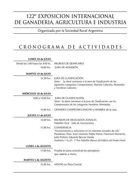 campeonato cuatro años - Asociación Argentina de Criadores de ...