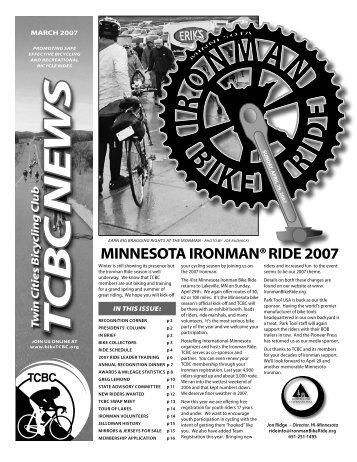 MINNESOTA IRONMAN® RIDE 2007 - Twin Cities Bicycling Club
