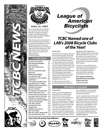 TCBC Named one of LAB's 2008 Bicycle Clubs of the Year!