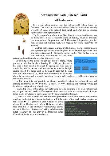 Švarcvaldské hodiny s řezníkem a volem
