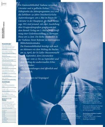 Jahresprogramm 2012 (639 kb, PDF) - Kanton St.gallen