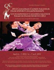 Le Championnat Canadien Amateur Fermé de ... - DanceSport BC