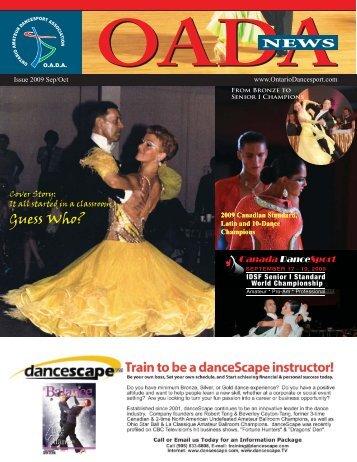 E-newsletter issue Sept & Oct 2009 - Ontario Dancesport