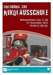 Postkarte Nikolausschule 2013.indd - Linz - Katholische Jungschar