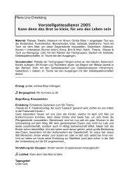 Reichenthal Vorstellgottesdienst 2005 - Linz