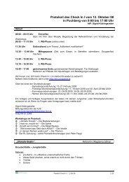Protokoll des Check In I vom 12. Oktober 08 in Puchberg von ... - Linz