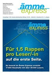 Für 1,5 Rappen pro Leser/-in - Ämme Express