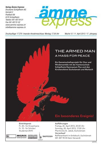 THE ARMED MAN Ein besonderes Ereignis! - Ämme Express