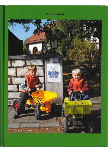 Gästebuch Ferienbauernhof Moarhof