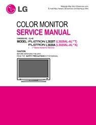 COLOR MONITOR SERVICE MANUAL - Jordans Manuals