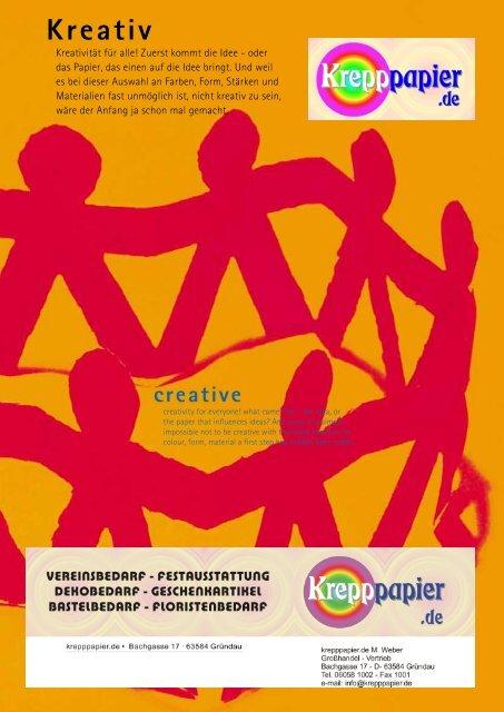 Bastelkatalog 2007 - Krepppapier und Bastelbedarf von krepppapier ...
