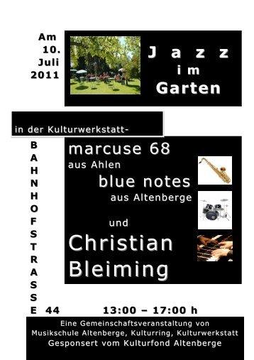 Christian Christian Bleiming - Kulturwerkstatt Altenberge eV